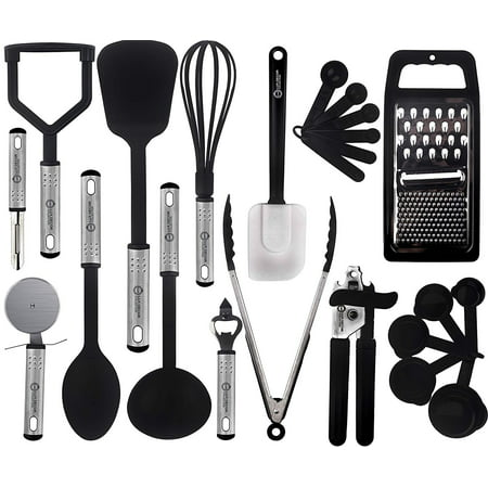 Lux Decor Cooking Utensils Set – 23 Pieces – Nylon Kitchen Utensils/Gadgets/Cookware Sets – Kitchen Accessories