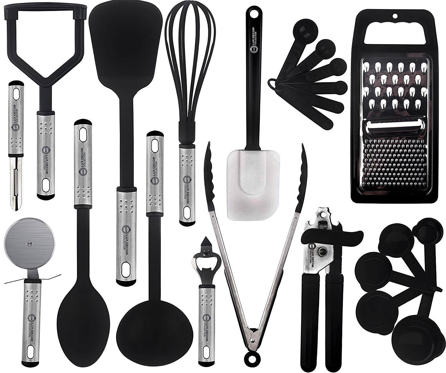 Cooking Utensils Set U2013 23 Pieces U2013 Nylon Kitchen Utensils/Gadgets/Cookware  Sets U2013