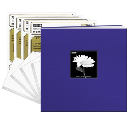 Pioneer Photo Albums Pioneer Cobalt Blue Fabric Frame Cover 12x12 40 Pages (20 Sheets) - Mint Sheet Album