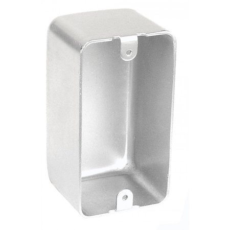 1 Pc, Blank, 2-1/8 In. Deep Handy Utility Box, .0625 Galvanized Steel for Convenience Outlets, Switches & Small Junction Boxes In Exposed Work Applications