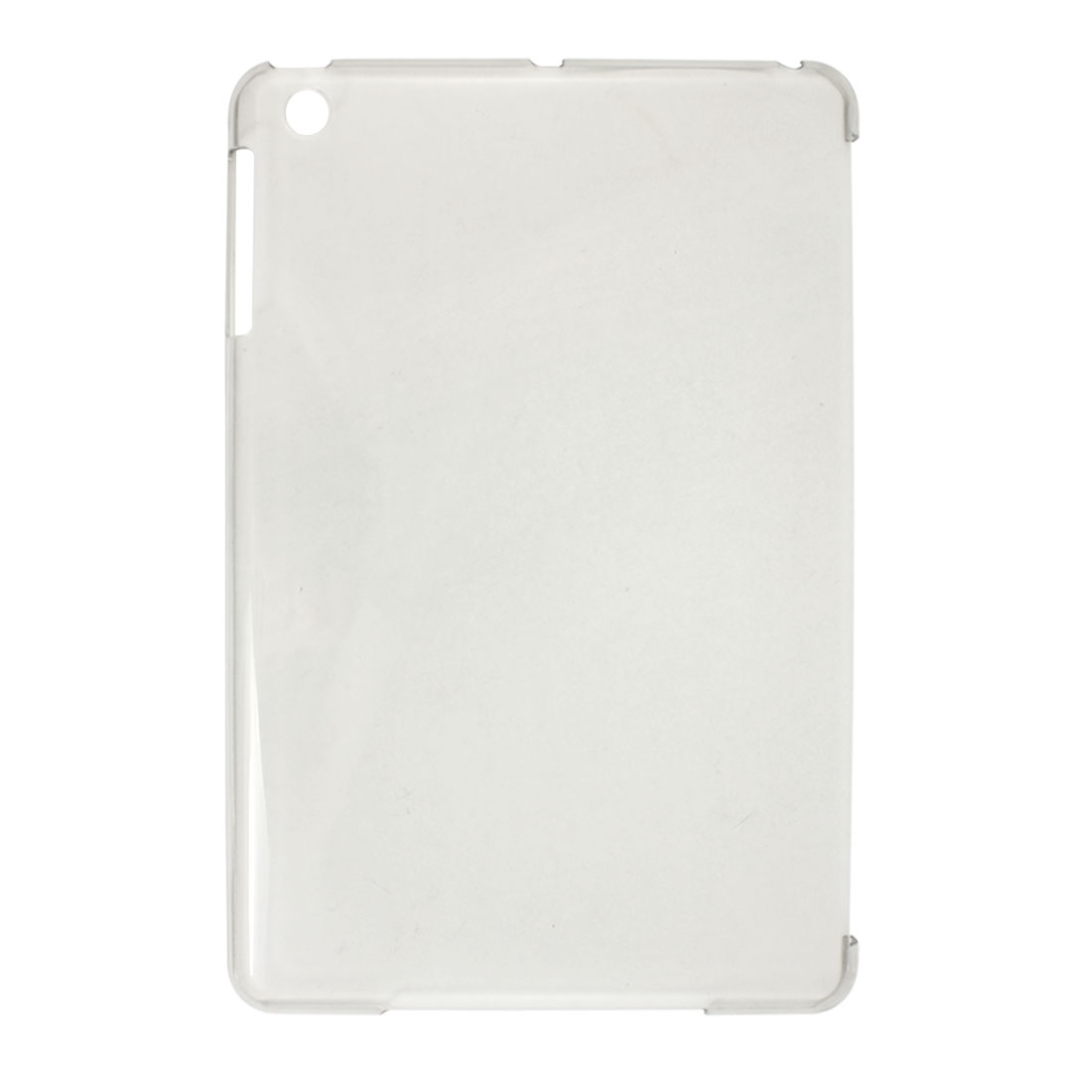 Unique Bargains Clear Gray Plastic Back Cover Shell Protector for Apple iPad