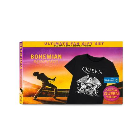 046548009 Bohemian Rhapsody Ultimate Fan Gift Set (Blu-ray+DVD+Digital+T-shirt ...