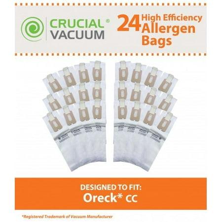24 Oreck Type CC Paper Bags, Part # CCPK8, CCPK8DW