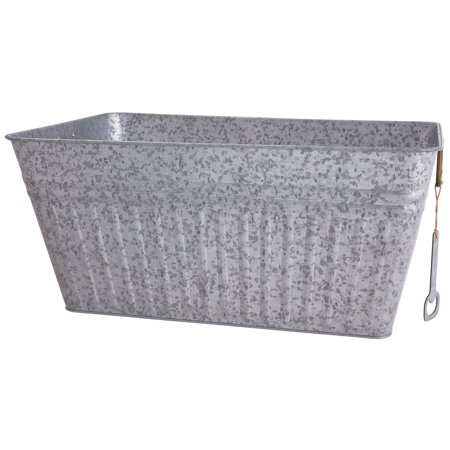 Better Homes & Gardens Rectangular Galvanized Steel - Galvanized Buckets Wholesale