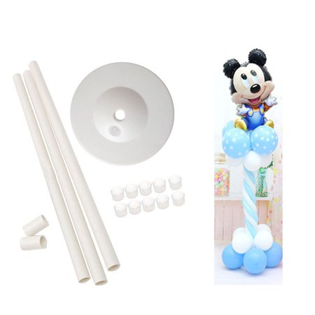 The Elixir Party Balloon Column Base Display Door Stage Strand Kit with (10) Round Balloon Clip Holder, Festival Party Decors, 50 inch Tall