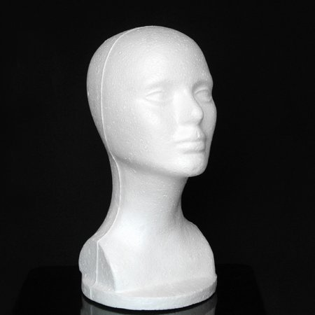 Female Styrofoam Hat Glasses Hair Wig Mannequin Stand Display Head Model Chest](Styrofoam Skull Head)
