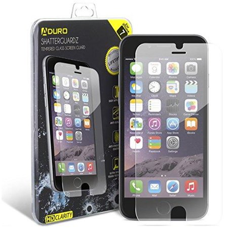 Iphone 7 Tempered Glass Screen Protector   Aduro Shatterguardz Anti Scratch  Anti Fingerprint Coating  Ultra Sensitive Touch Tech For Apple Iphone 7