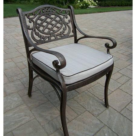 Oakland Living Mississippi Cast Aluminum Dining Arm Chair Cast Aluminum Dining Chair