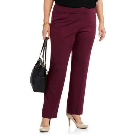 4d2fc4bf083 Faded Glory - Women s Plus-Size Ponte Pull-On Pants - Walmart.com