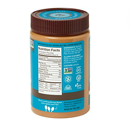 Barney & Co Almond Butter, Smooth, 16 Oz