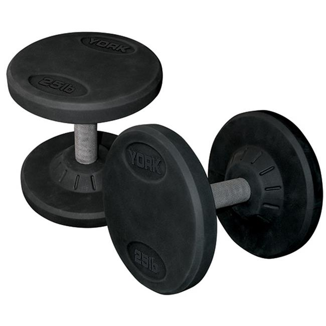 York Barbell 26129 Rubber Pro Style Dumbbell, Set of 2 - 150 lbs