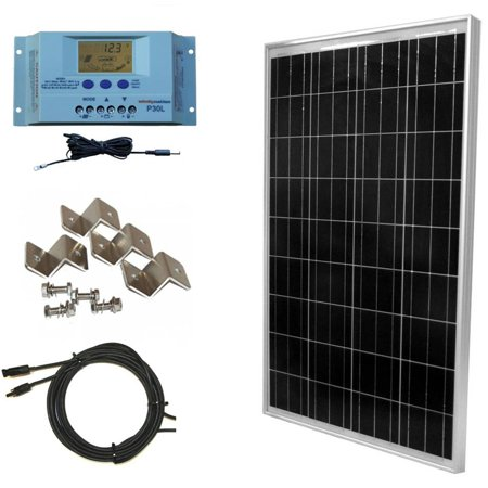100 Watt Off-Grid Polycrystalline Solar Panel Kit with