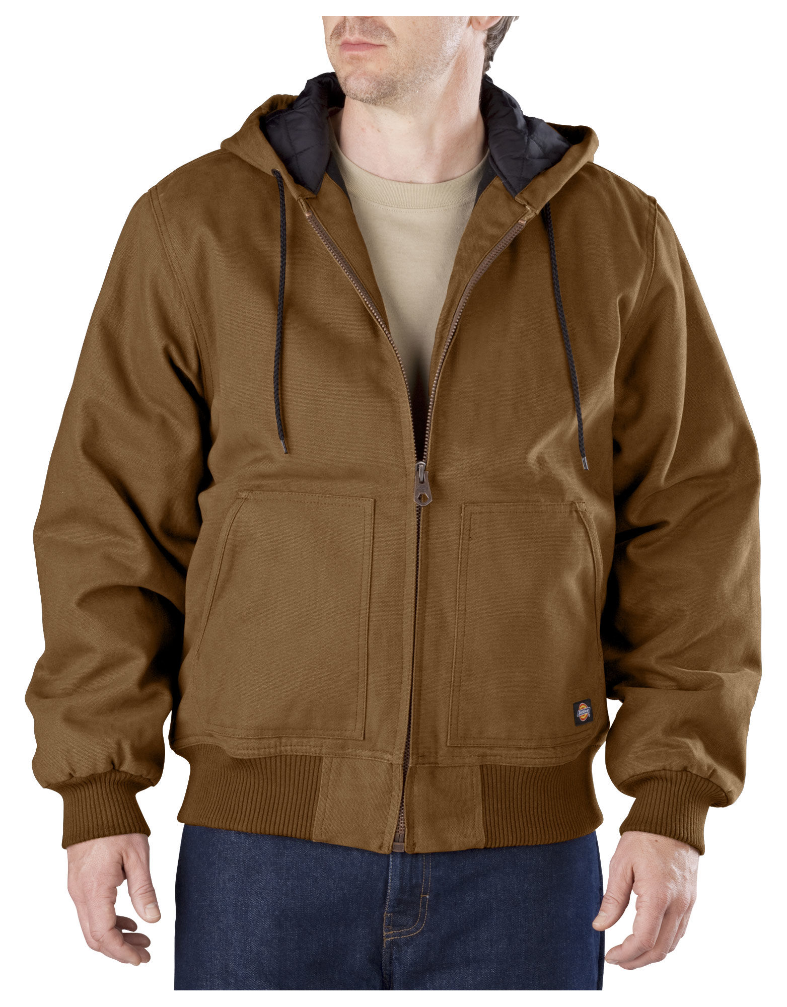 Dickies Mens Sanded Duck Hooded Jacket, Brown Duck - 2T - Walmart.com