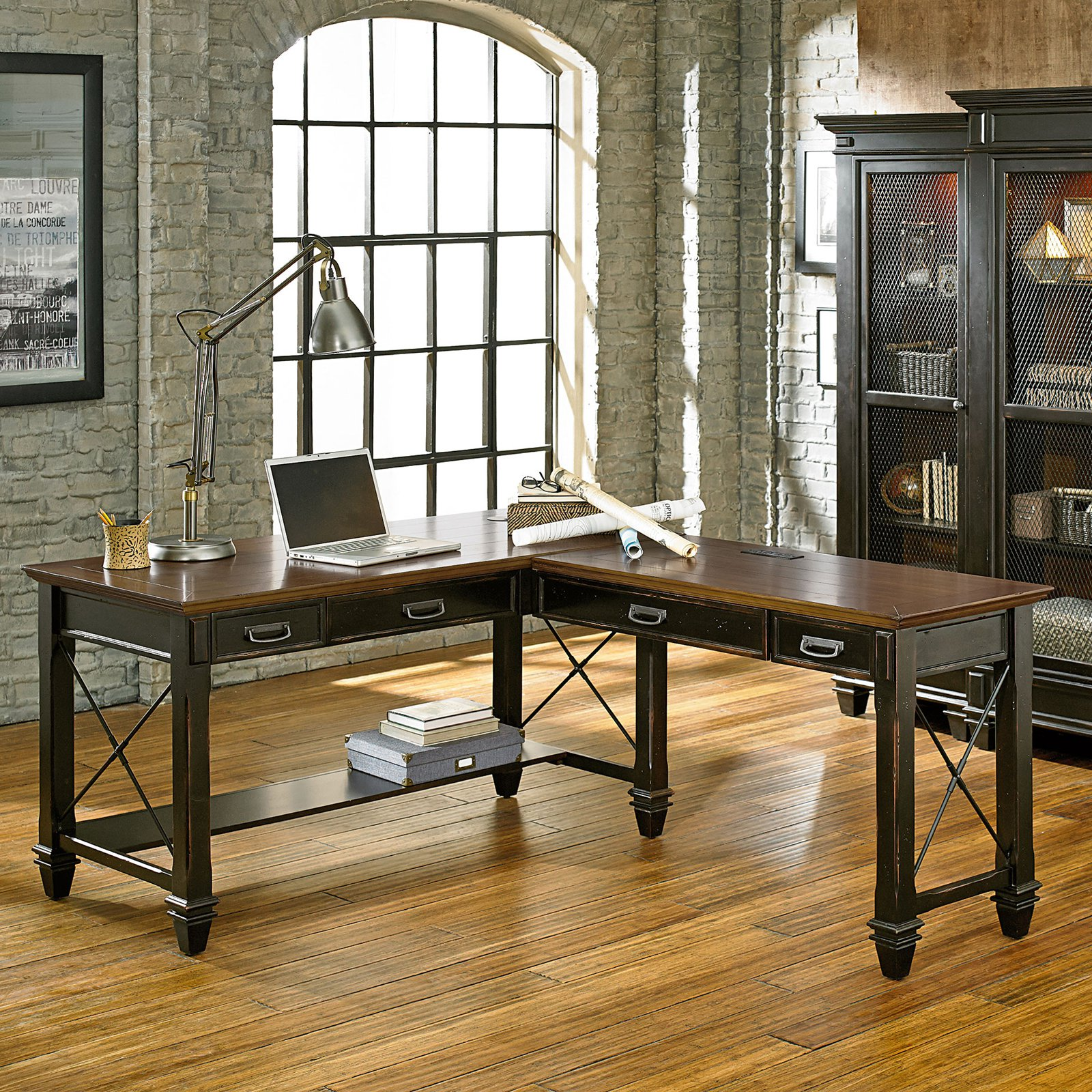 Martin Furniture Hartford Open L-Shaped Desk