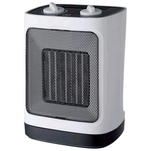 Pelonis 6403372 Electric Ceramic Heater Amp Fan Thermostat White Walmart Com Walmart Com