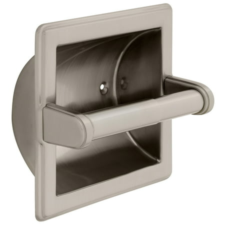 Bath Unlimited 9097SN Recessed Toilet Paper Holder With Beveled Edges Bath Unlimited Toilet Paper Holder