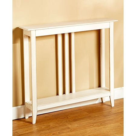 The Lakeside Collection Slim Space-Saving Accent Table (Antiqued White) ()