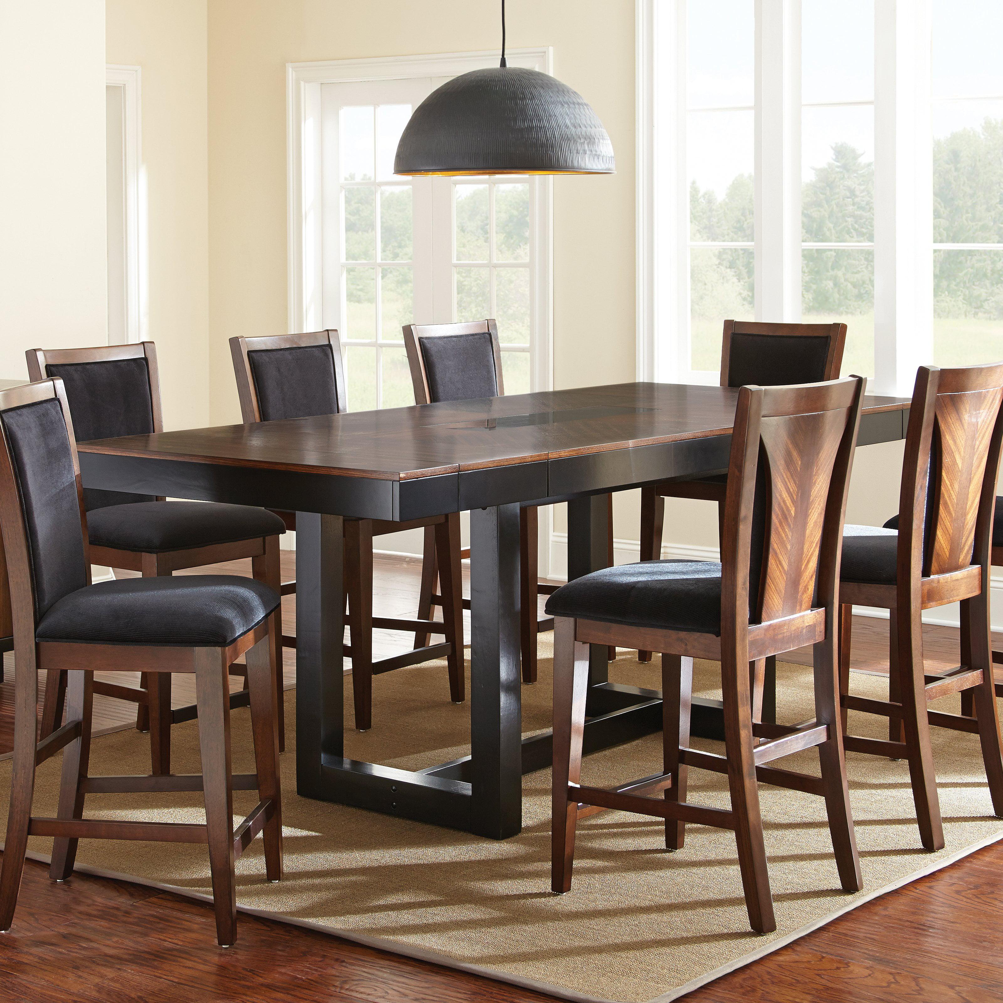 Steve Silver Julian Counter Height Dining Table Black Walnut