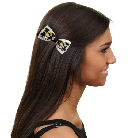 Missouri Tigers Bow Pair Clips - No Size