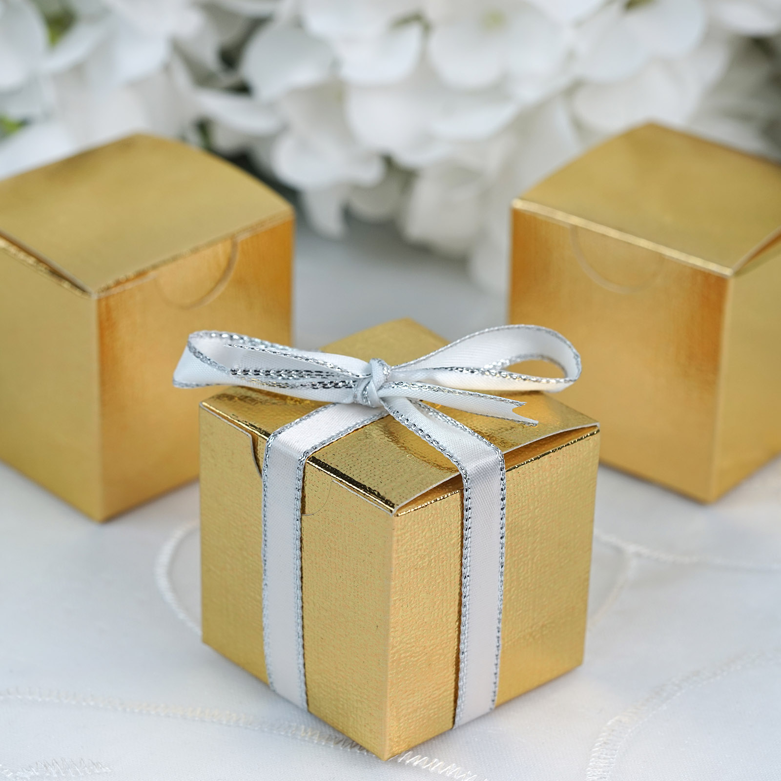 """BalsaCircle 100 pcs 2""""x2""""x2"""" Wedding Favors Boxes - Wedding Party Candy Gifts Decorations Supplies"""