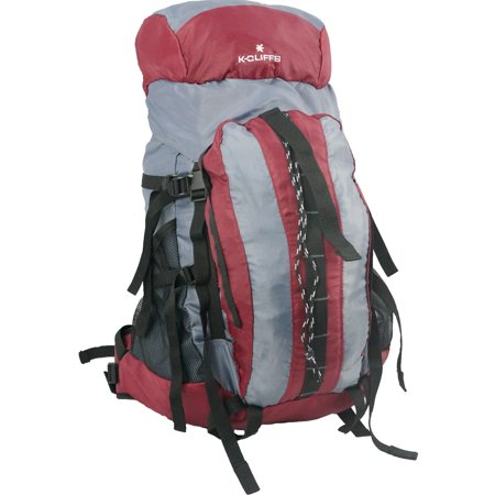 K Cliffs Hiking Backpack Scout Camping Backpack Large Internal Frame Daypack Travel Pack Bag Maroon