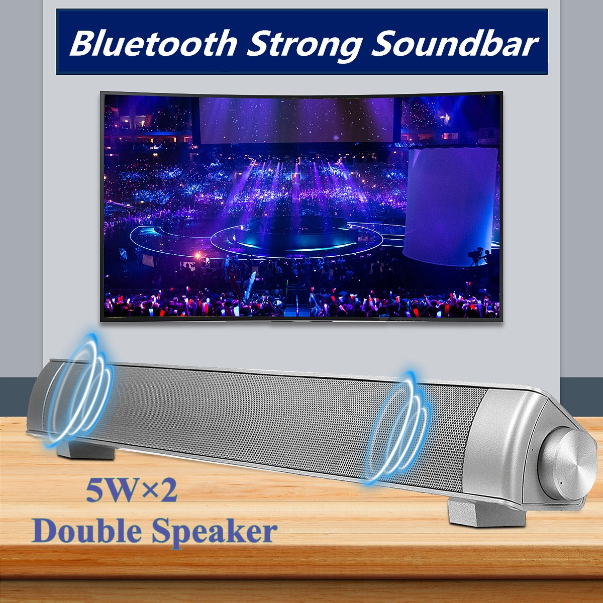 Powerful 360° Sound Bar Wireless TV Soundbar Stereo bluetooth Hifi Home Theater Speaker Box MP3 For TPC Laptop Tablet Smartphone Upgraded TF AUX