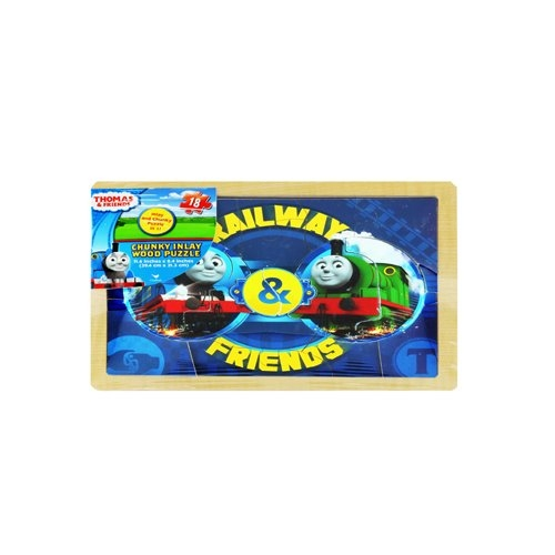 """Thomas & Friends 11.6"""" x 8.4"""" Or 29.4cm x 21.3 cm Chunky Inlay Wood Puzzle Toy For Kids Age 5+ by Cardinal"""