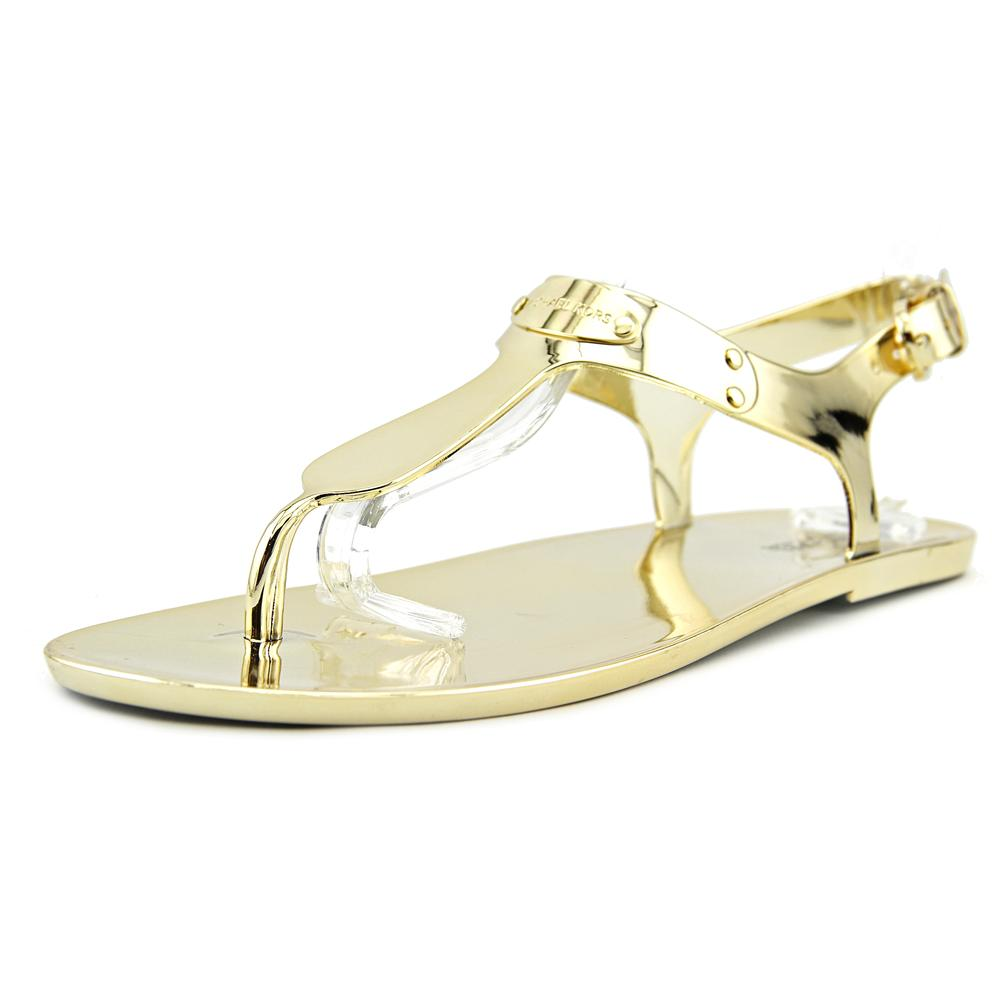 cb627253e48 MICHAEL Michael Kors - Michael Michael Kors MK Plate Jelly Women Open Toe  Synthetic Gold Thong Sandal - Walmart.com