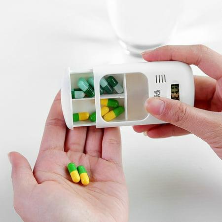 Mini Portable Daily Medicine Kit With Digital Alarm Clock Reminder Pills