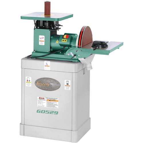 """Grizzly G0529 Oscillating Spindle / 12"""" Disc Sander"""