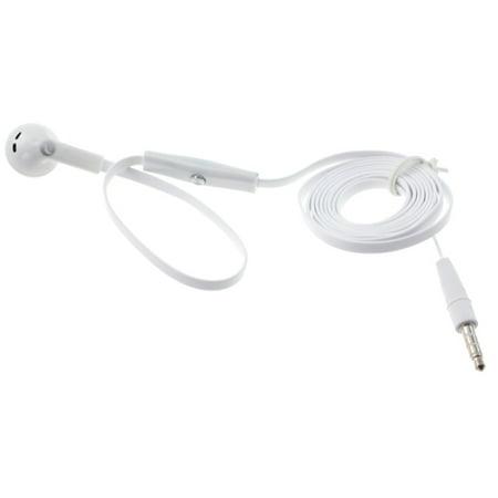 Flat Wired Headset MONO Hands-free Earphone w Mic Single Earbud Headphone Earpiece Z9W for Alcatel Tru, Dawn, REVVL, 7, Jitterbug Smart2 Smart, A30 Plus, 2, Pop 3, Idol 5S 5 4S, Fierce 4