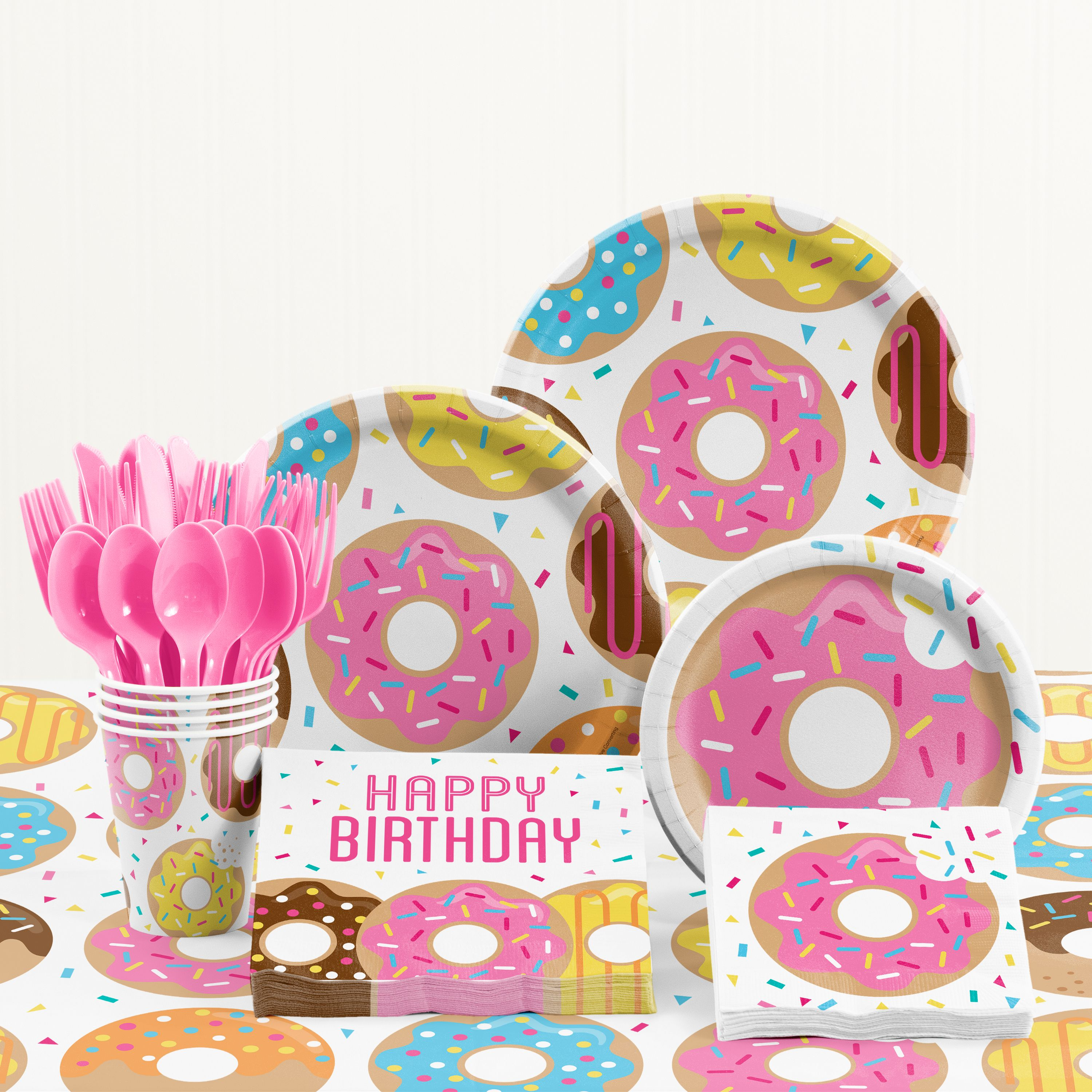 Donut Time Birthday Party Supplies Kit