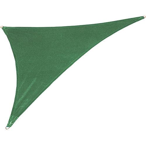 California Sun Shade Shade Sail Right Triangle, Heritage Green