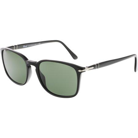 Persol PO3158S-95/31-56 Black Rectangle Sunglasses