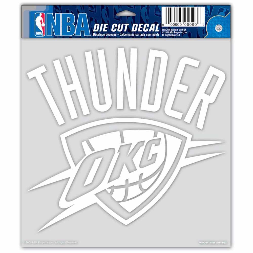 "Oklahoma City Thunder Die-cut Decal - 8""x8"" White"