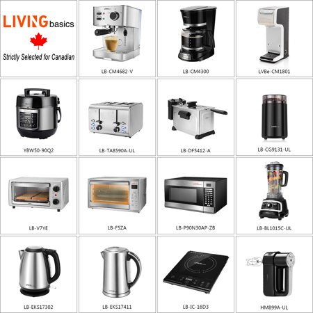 LIVINGbasics 2 in 1 Single Serve Coffee Maker Coffee Brewer, Compatible with K-Cup Pods or Ground Coffee - image 1 de 8
