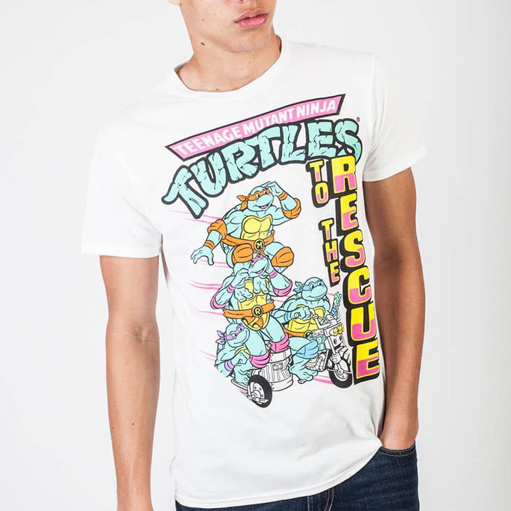 Teenage Mutant Ninja Turtles To The Rescue White T-Shirt-Medium