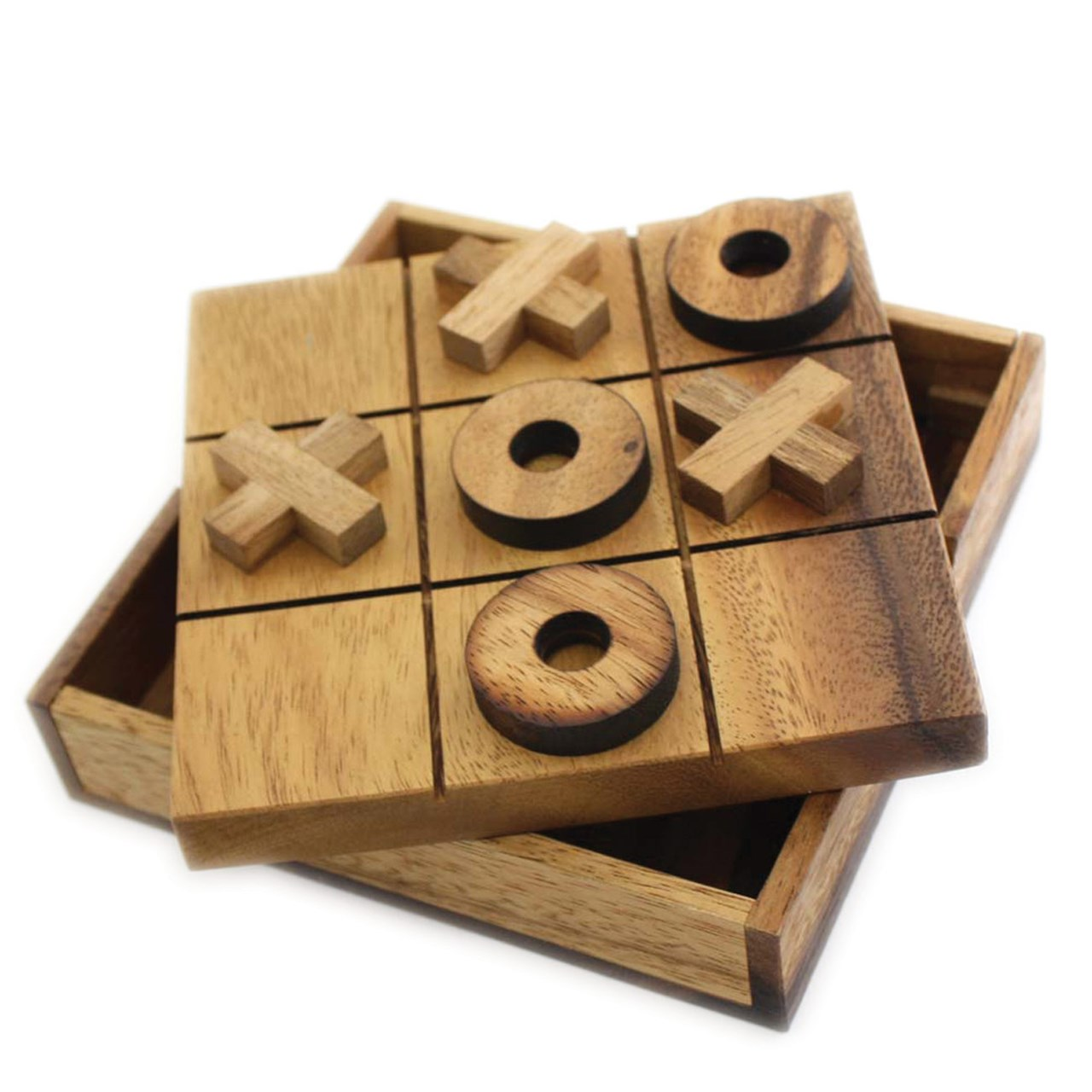 Tic Tac Toe Tactile Wooden Game