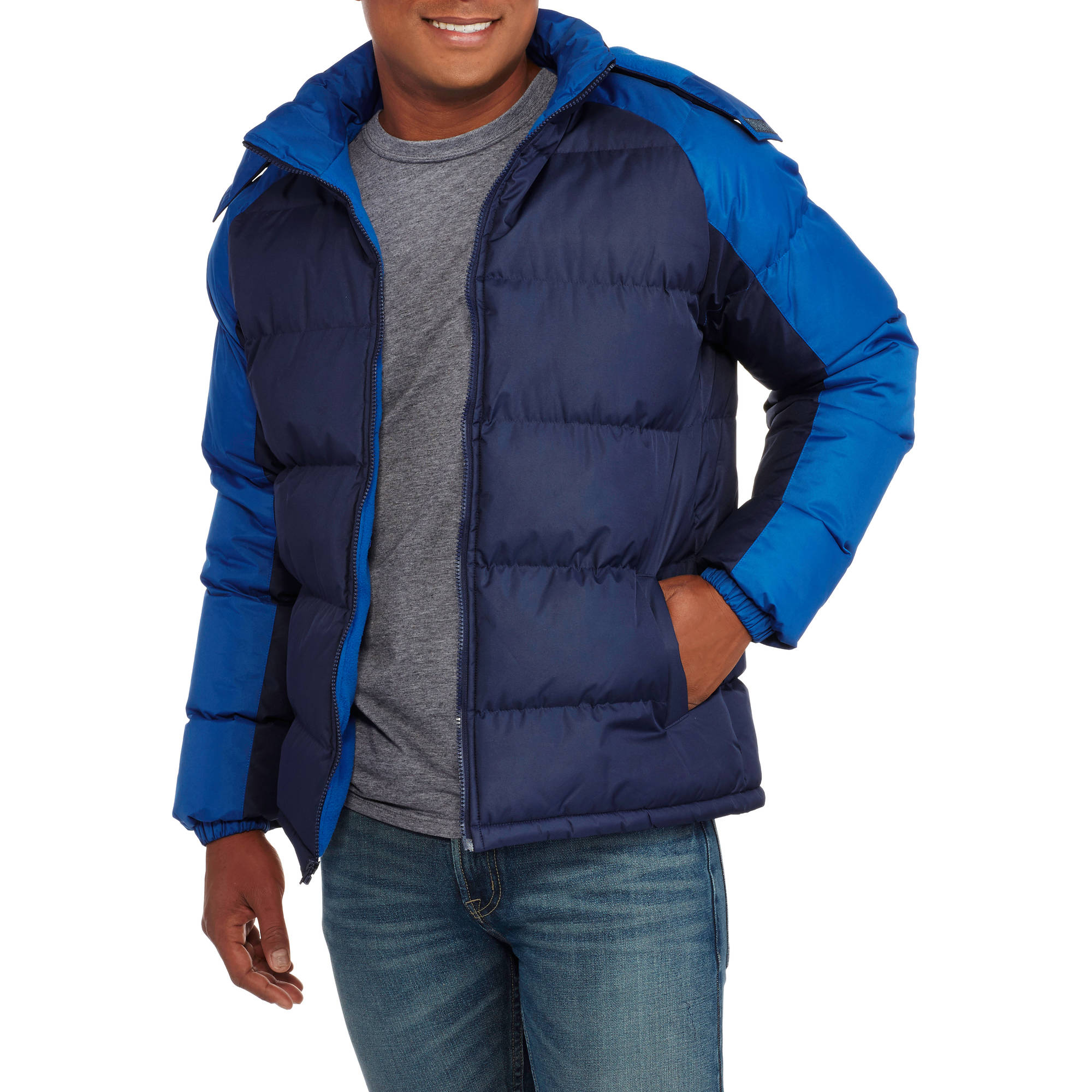Climate Concepts Men's Fleece Lined Bubble Jacket