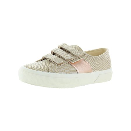 Superga Womens 2750 Faux Leather Snake Sneakers Scrunch Leather Footwear