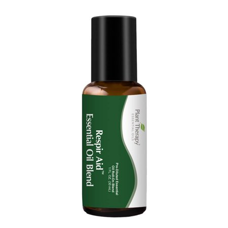 Plant Therapy Essential Oil Respir Aid Blend 30 mL 100% Pure, Pre-Diluted Roll-On, Sinus & Congestion Clearing Therapy Oil Roll