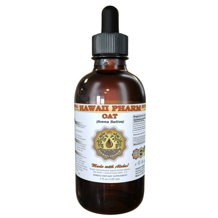 Oat (Avena Sativa) Tincture, Organic Dried Grains Liquid Extract, Common Oat, Herbal Supplement 2 oz