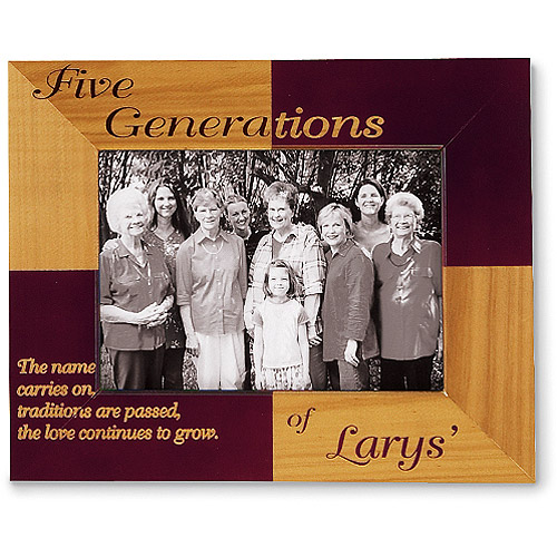 Personalized 4 Generations Frame - Name Carries On