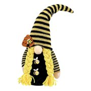 Faceless Gnome Doll, Handmade Dwarf Bumble Bee Forest Man Plush Doll