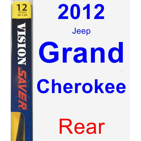 2012 Jeep Grand Cherokee Rear Wiper Blade - Rear (2012 Jeep Patriot Rear Wiper Blade Size)