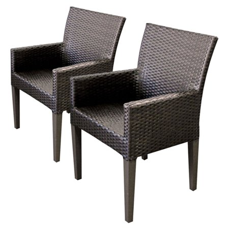 TK Classics Barbados Wicker Patio Dining Arm Chairs ()