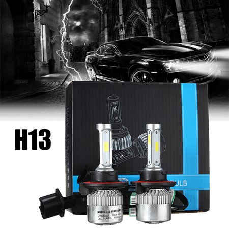 2x Car COB LED Headlight Kit Light Bulbs H13 Night Lighting Car Driving Fog Light Lamp 72W 16000LM