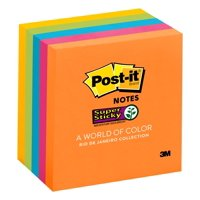 Post-it Super Sticky Notes 5 Pack, Rio de Janeiro Collection, 3 in x 3 in,