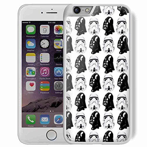 Ganma star wars darth vader stormtrooper pattern Case For Iphone 6/6s Plus White Case