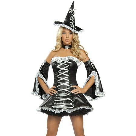 Roma Sexy Romantic Ruffle Witch Dress Halloween - Romantic Halloween